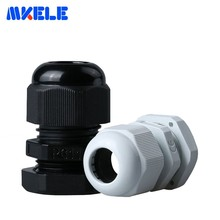 10pcs/lots PG11 Passe Cable Black White Plastic Nylon Waterproof Cable Glands Joints IP68 Cable Connector For 5-10mm Cable стоимость