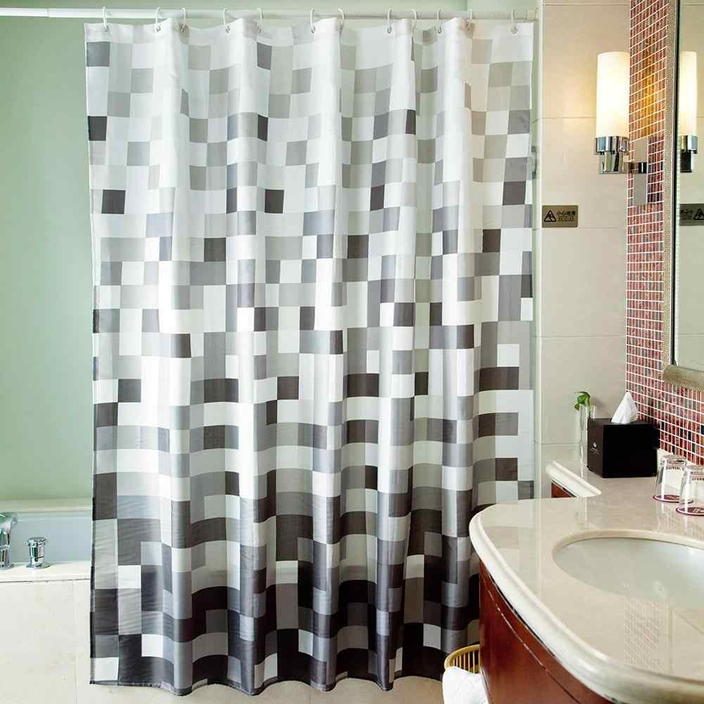 Douchegordijn занавеска для душа прочная водонепроницаемая плесени-защита от света Ванная комната занавеска с крючками хорошее качество водонепроницаемый