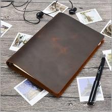 Junetree schwarz braun Vintage Diaries A5 größe Tagebücher notebook echtem leder