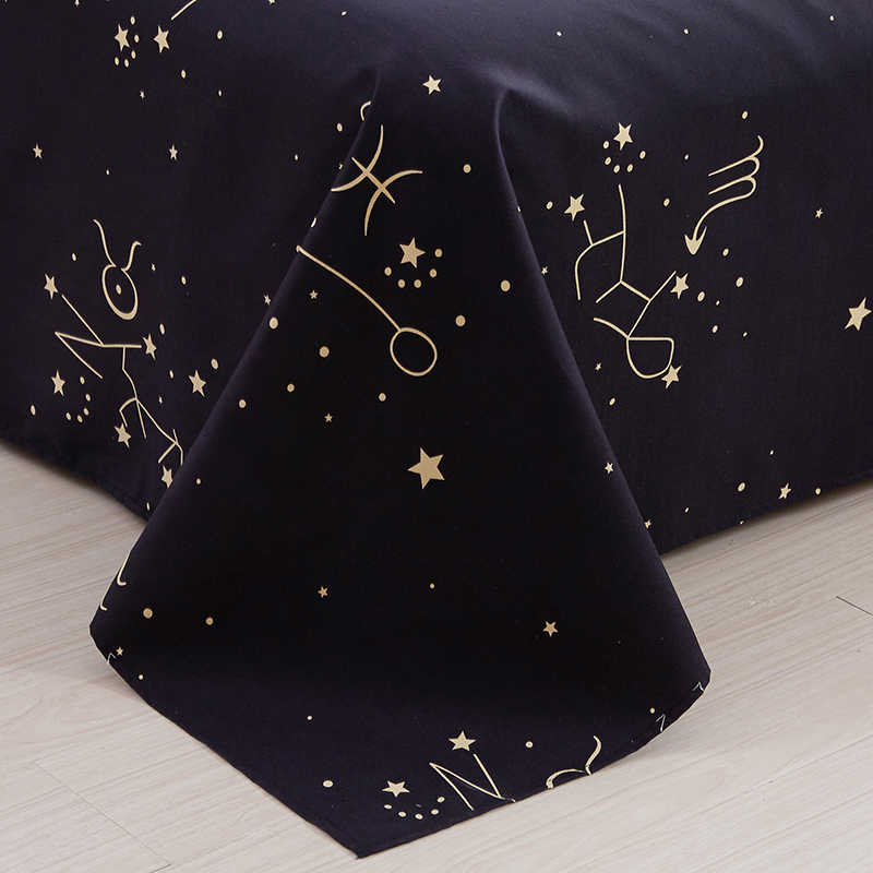 Home Textile Galaxy Star Bed Linen Constellation Duvet Cover Bedding Set Twin Full Queen King Size  Pillowcases Bed Sheet59