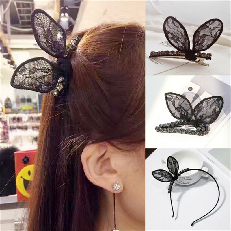 Lace Floral Headwear Flower Clamp Hair Pins Claw Fashion Hairwear Hair Clip Decorfor Girls Valentine Day Gifts Ear 3D For Women