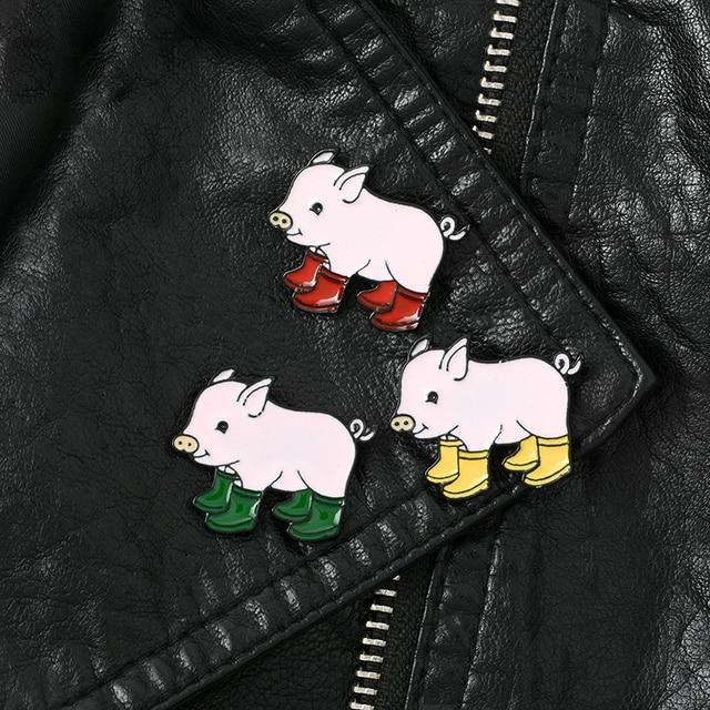 Cachecol porco Cor de Rosa Bonito Camisola 1 PC Hot Sale Dos Namorados Presente Bonito Animal Dos Desenhos Animados Broche de Casamento Chapéu De Cowboy Roupas 4 cores