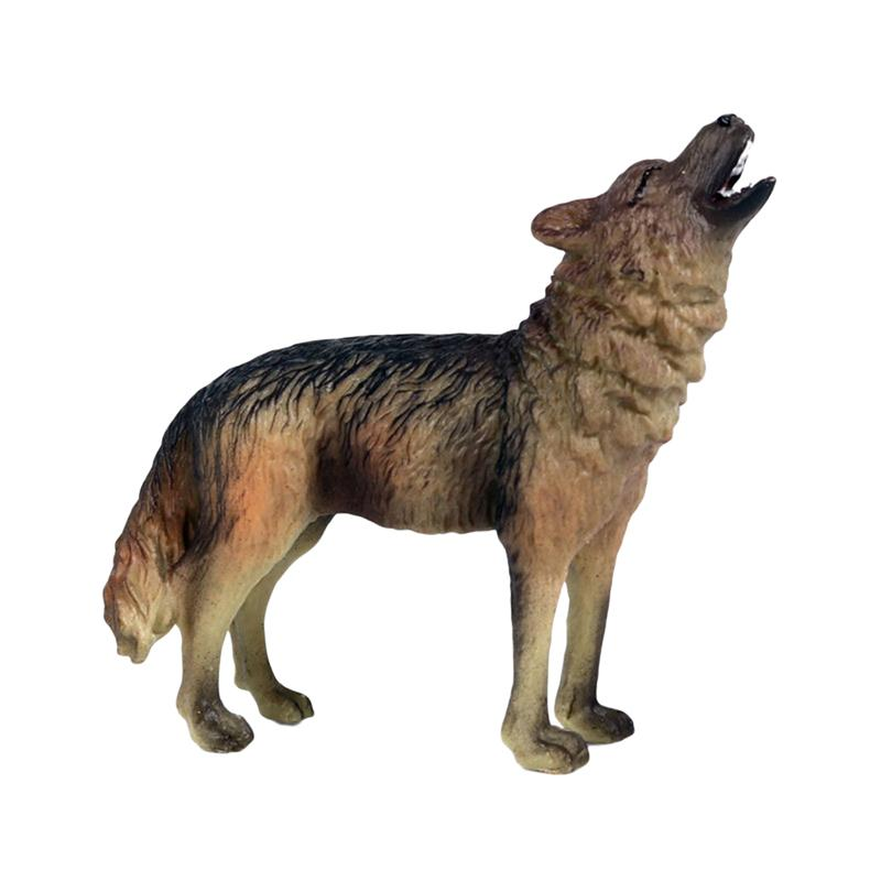Wolf Model Simulation Kids PVC for Chidren Boy 1PC Desk-Decoration Pvc-Ornaments Roaring