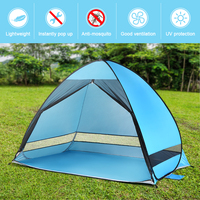 Lixada Automatic Camping Tent Travel for 2 Person Beach Tent Sun Protection Outdoor Cabana Sun Shelter Anti UV Survival Hiking
