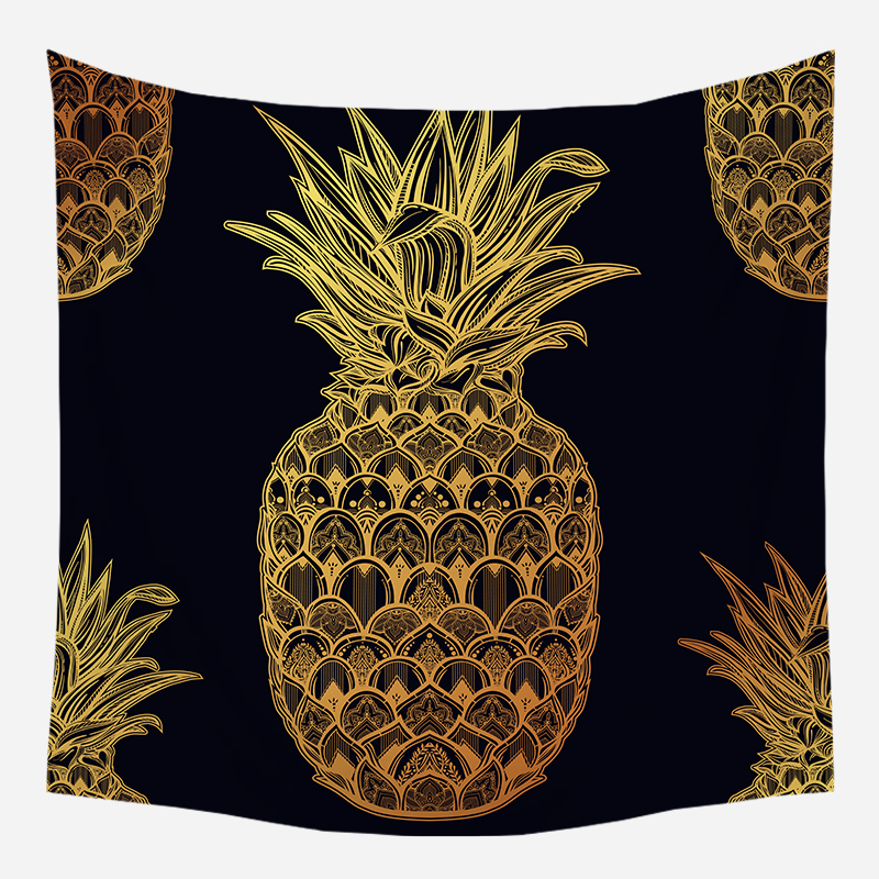 Loartee Bohemian Pineapple Mandala Decor Tapestry Home Ouija Gotico Hippie Indian Tenture Mural Wandkleed Pared tela Arras image