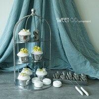 gaiola quadro queque decoração de casamento decoração de mesa de sobremesa criar capaz ornamento do partido bolo pops