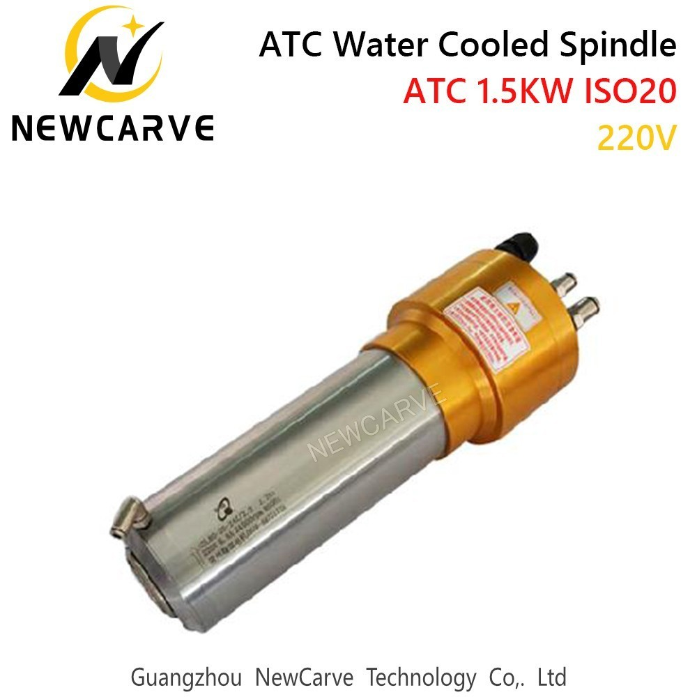Купить с кэшбэком 1.5KW Water Cooled ATC Spindle Motor 220V ISO20 Automatic Tool Change Spindle For Mental Cutting GDL80-20-24Z/1.5 NEWCARVE