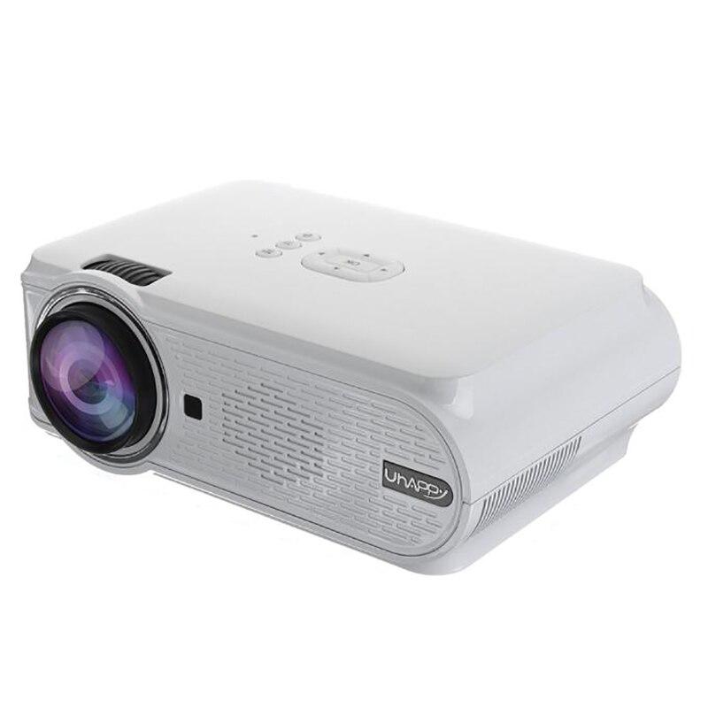 Vindingrijk Uhappy U90 7000 Lumens 1080 P Hd Wit Draagbare Projector Android 4.4 3d Led Home Theater Cinema (eu Plug)