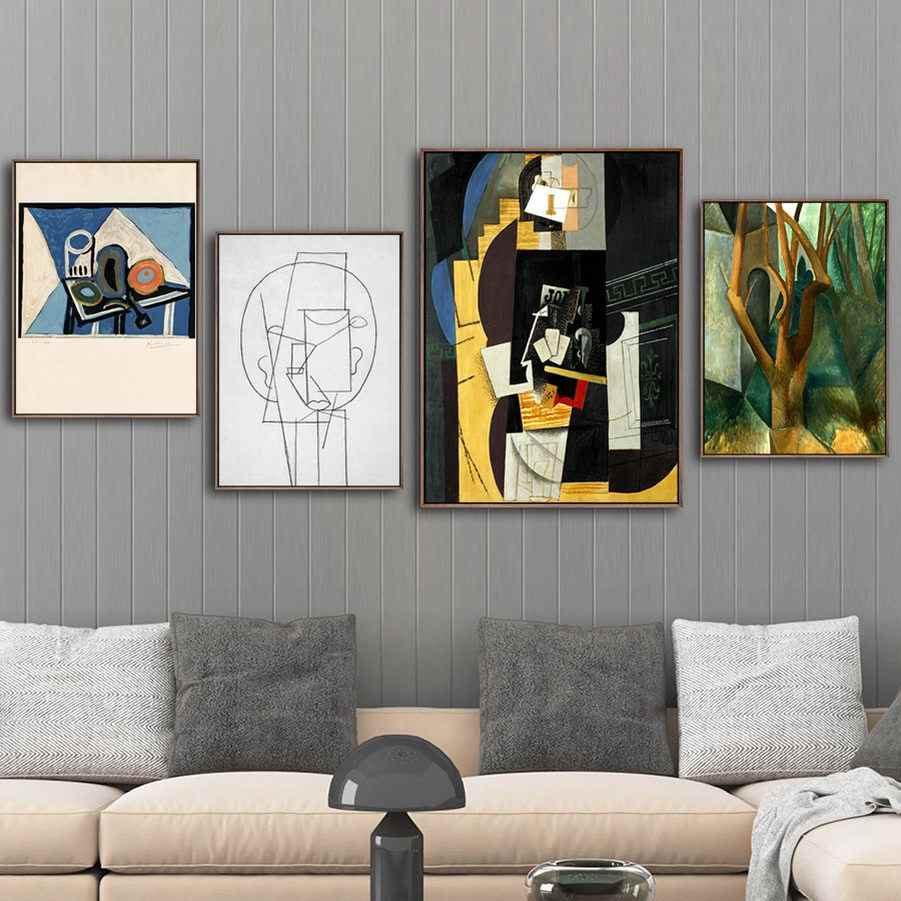 Home Decoration Print Canvas Art Wall Pictures Poster Canvas Paintings Spanish Pablo Picasso Portrait of Daniel-Henry Kahnweiler