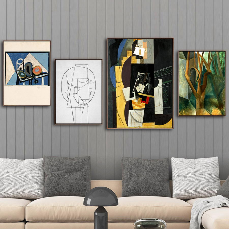 """Picasso Abstract Art Oil Painting Print On Canvas Decor/""""Portrait Of Sylvette/"""""""