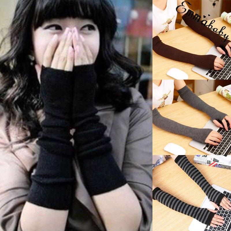 Clever Frauen Nette Schutz Arm Warmer Lange Finger Stretchy Handschuhe Ärmel Fäustlinge Die Neueste Mode Bekleidung Zubehör Damen-accessoires