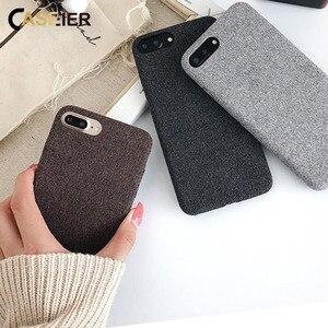 Image 3 - CASEIER Iphone XR Xs 最大 7 × 8 6 6s プラスソフト布 Textrue のためのカバー iPhone 11 8 7 6S 6 プラスオリジナル Funda Coque