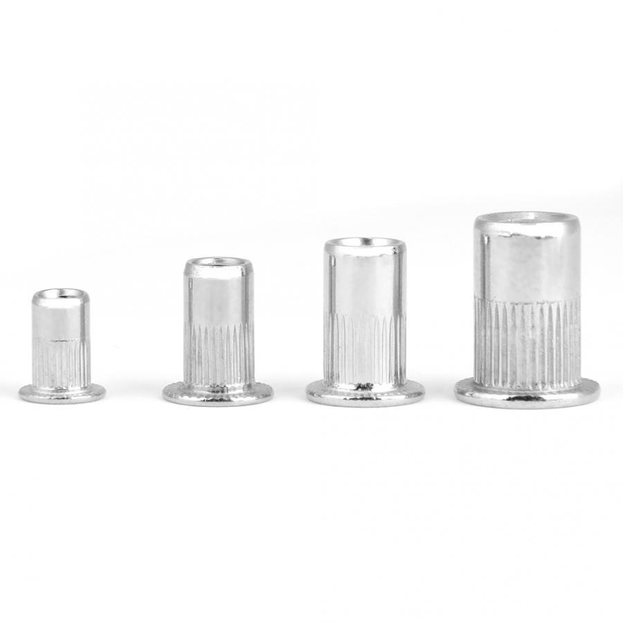200pcs Steel Rivet Nut Threaded Insert M3 M 4 M5 M6 304 Stainless Steel Blind Rivet Nut Set for Industrial Home Decoration