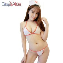 E&A Sexy Costume Nurse Women Erotic Lingerie Female Porno Cosplay Bra Panties Sets String Thongs Sex Lenceria G Babydoll