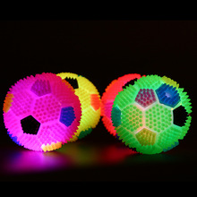 Innovative design of non-toxic rubber materials pet light football toy small and medium-sized dogs Halloween essential цена