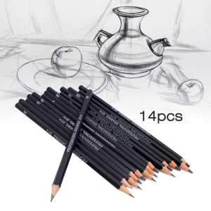 Drawing-Pencils Charcoal Black High-Quality 6h-12b-Range Environmental-Set Sketching
