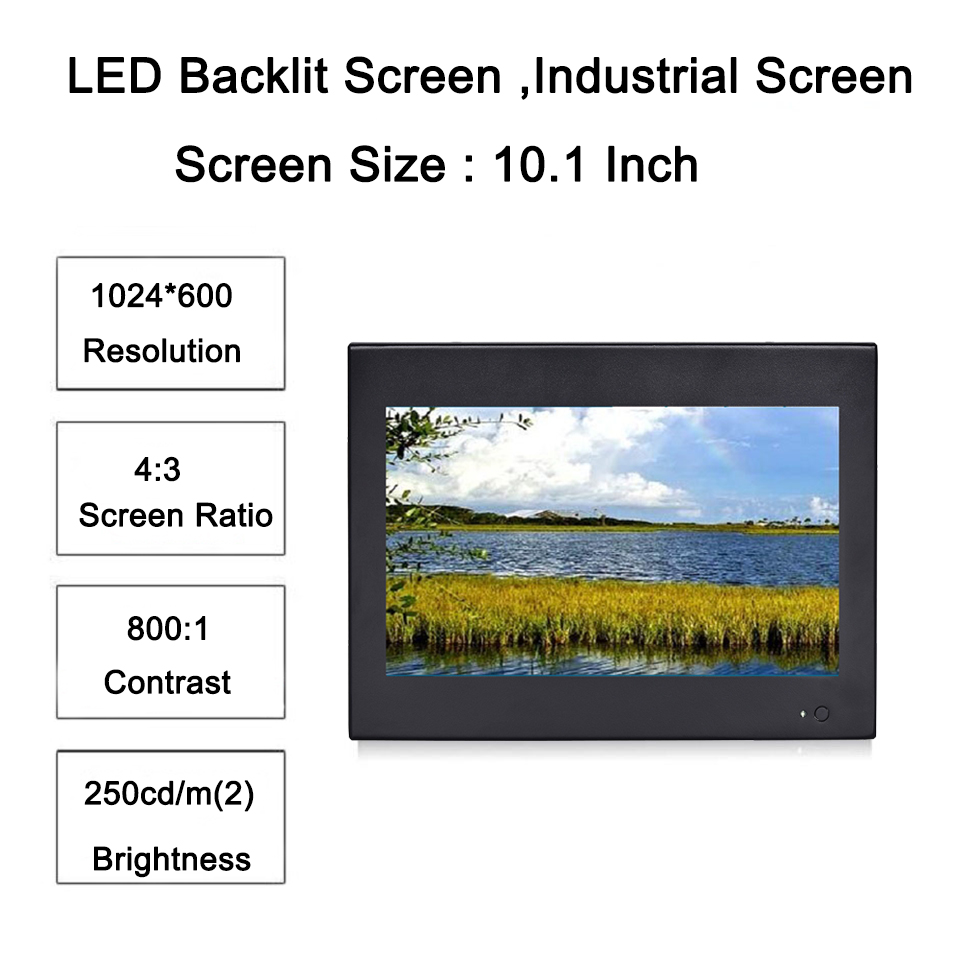 10.1 Inch Industrial Touch Panel PC,4 Wires Resistive Touch Screen,Intel Core I5,Windows 7/10,Linux,[HUNSN DA13W]