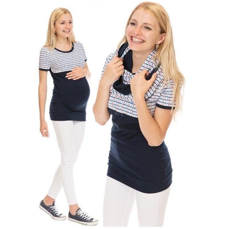 3ce5ac866 Dollplus Marternity ropa para mujeres embarazadas maternidad camiseta  verano Casual de dibujos animados Camiseta de algodón