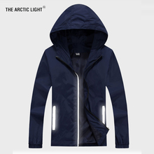 THE ARCTIC LIGHT Men Reflective Cycling Jacket Sun-protective Windbreaker Skin Outdoor Sport Running Camping Hiking Coat