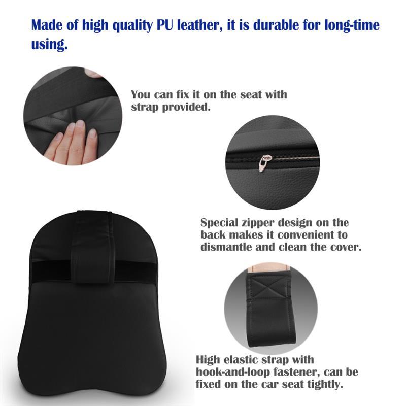 3D Автомобильная подушка для подголовника, Кожаная подушка для шеи, ледяной Шелковый коврик для шеи, поясная подушка, подушка для автомобильного сиденья, аксессуары
