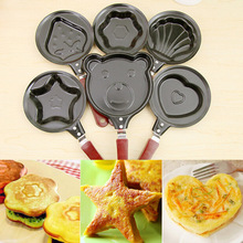 Small frying pan home kitchen mini flat non-stick frying pan DIY frying pan mold smokeless egg mold цены онлайн