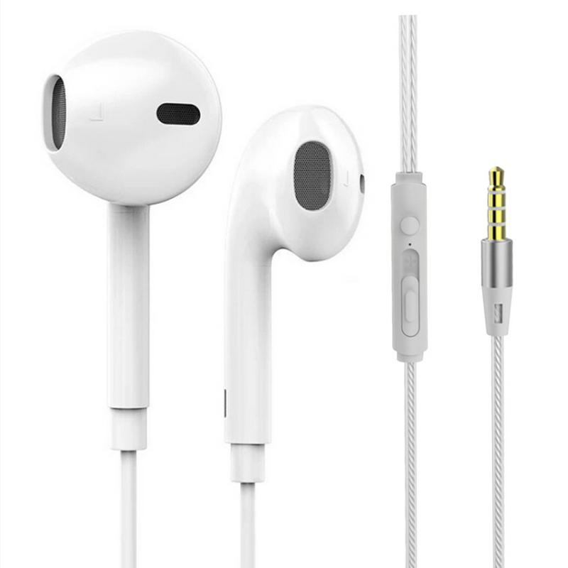 Earbuds In-ear Subwoofer Earphone With Microphone Sports Music Headphones For IPhone6 5 4 Universal Fir Android Mobile Phone