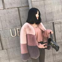 Winter Woman Coat Faux Fur Jacket Short Jacket Outwear Warm Imitation Rex Rabbit Fur Coat Artificial Fur Loose Cardigan Tops