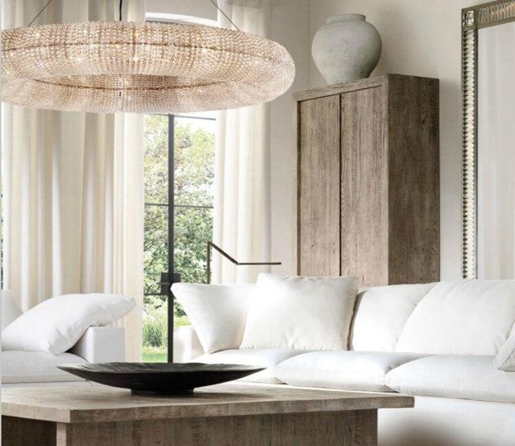 Americano Lampadario di Cristallo Creativo soggiorno Illuminazione A Led stile Nordico famiglia Ciambella Luce Lampadario Hotel di lusso lobb - 3
