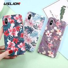 USLION Flower Phone Case Coque For Xiaomi
