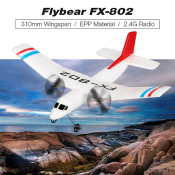 RC Airplane Plane Flybear FX-802 2.4G 2CH Remote Control Glider 310mm Wingspan EPP Micro RC Aircraft Plane Toys Kids Gifts