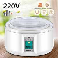 1.5L Electric Yogurt Maker Yogurt DIY Tool Kitchen Appliances Automatic Liner Material Stainless Steel Yogurt Maker with 7 Jars