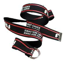 Fashion Canvas Jeans Belt For Men Women Casual Waist Belts Metal Buckle Harajuku Solid Color Letter Striped Female Long Belts(China)