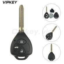 Remotekey Car Remote Key for Toyota Camry Corolla Prado RAV4 Vios Hilux Yaris 3 Buttons TOY43 Blade 434mhz TOY43 4d67 G chip car generator diode rectifier bridge for toyota camry 90a corolla corolla vios 2 0 2 4