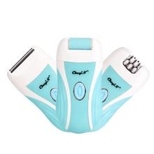 3 в 1, женский Электрический эпилятор, бритва, перезаряжаемая, для депилятора, для леди, для бритья, для удаления волос, для удаления мозолей, для педикюра, инструмент для ухода за ногами