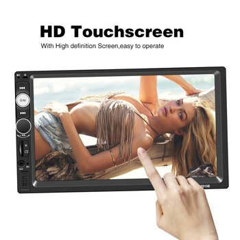 2 DIN 7Inch Mirror Link Car Audio Radio Touch Screen Stereo MP5 Cassette Player USB/TF/FM AUX Autoradio image