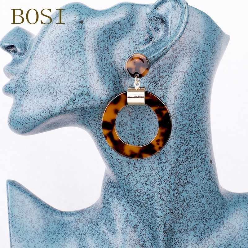 ต่างหูอะคริลิค Boho 2019 Acetate Dangle Drop ต่างหูแฟชั่น Bohemian อุปกรณ์เสริมเรขาคณิต Luxury Trendy Face