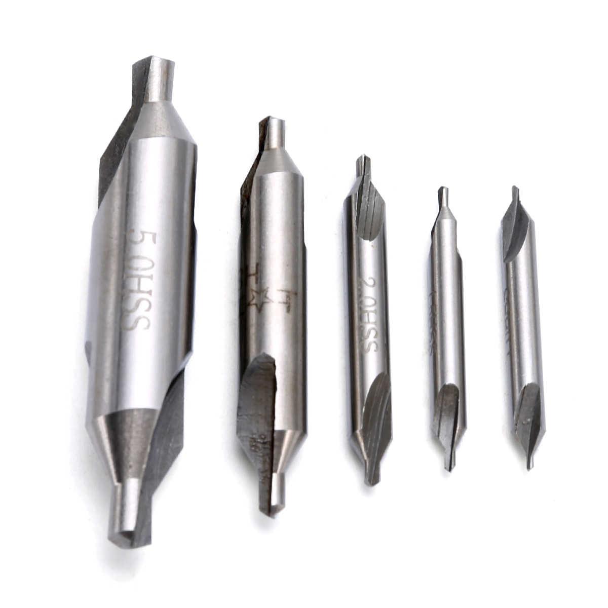 HSS Center Drill Countersink Bit Lathe Tool 1//1.5//2.5//3.15//5mm Series Durable