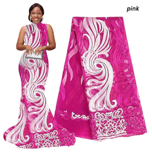 Wholesale swiss lace pink white black green new african fabric gold wine royal blue latest guipure cord 2016