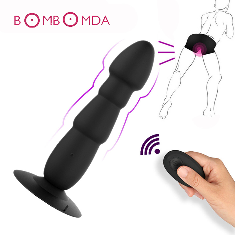 Sex Shop Anal Vibrator For Men Silicone Butt Plug Realistic Dildo Vibrator with Suction Soft Anal Sex Toys for Woman Sex Product 42cm silicone anal plug big butt plug 100% silicone masturbation anal sex toys for adults for men for woman sex shop huge toys