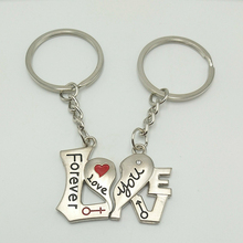 Hot Heart-shaped Couple Keychain Tanabata Pendant Wedding Banquet Gift Small Creative Key Chain