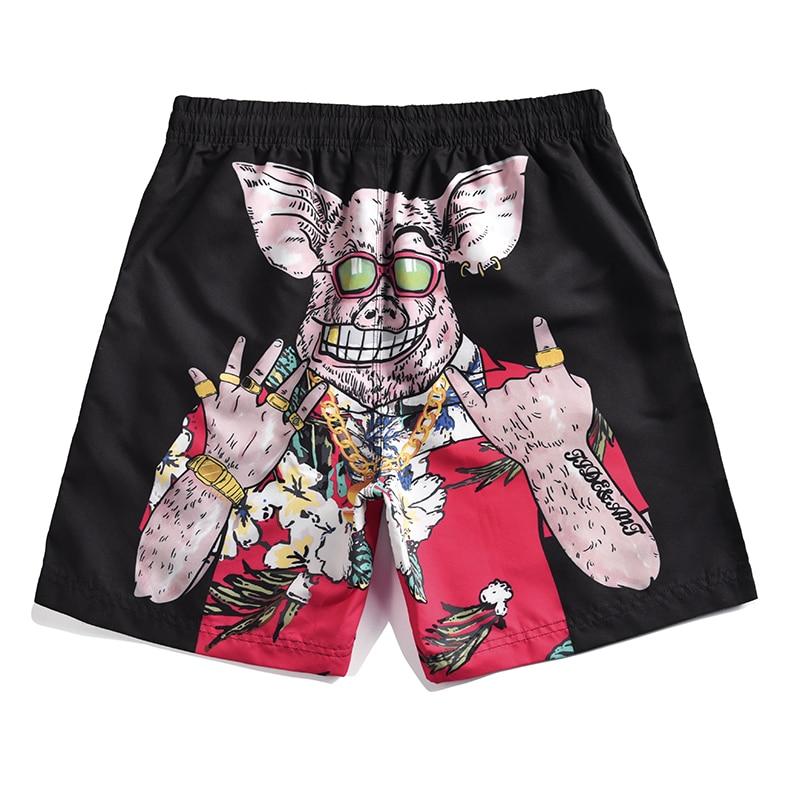 Men's Pig Printed   Board     Shorts   Man Beach   Shorts     short   Masculino Praia Beach Pants M-4XL Plus Size Pantaloneta Playa Hombre