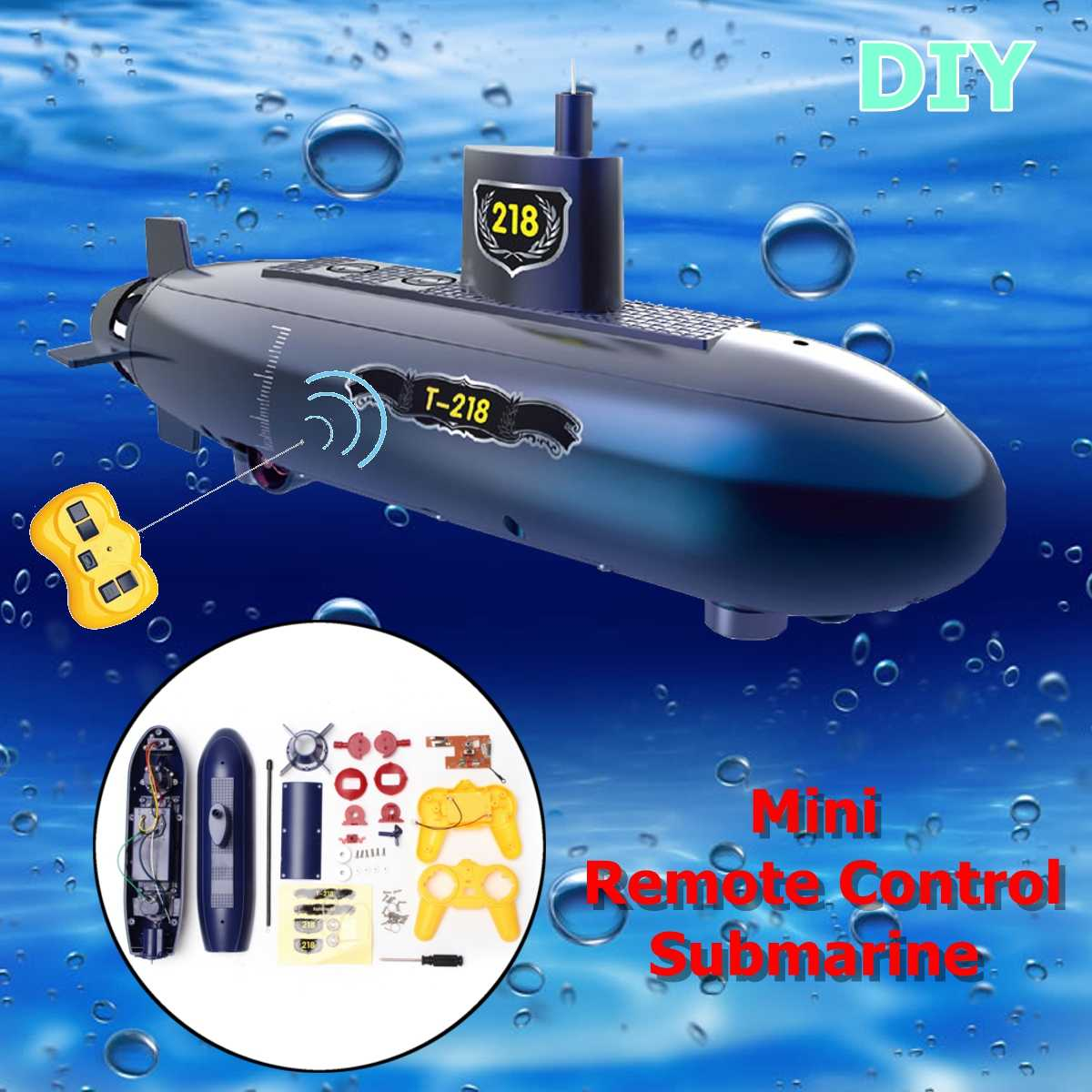 Funny RC Mini Submarine 6 Channels Remote Control Under