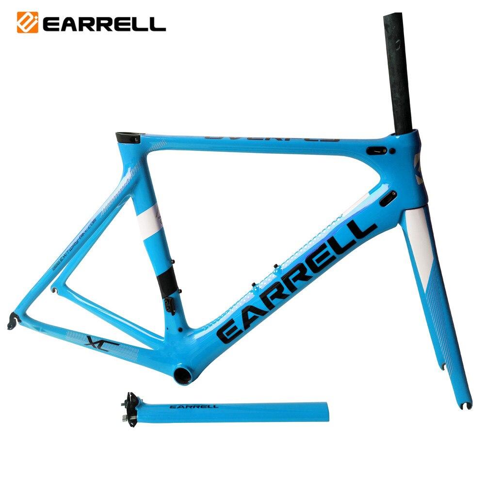 Earrell T800 Carbon Fiber UD BB86 Glossy Or Matte Carbon Road Bike Frame Strong Cabon Frame 50/53/56CM Oem Brand Frame