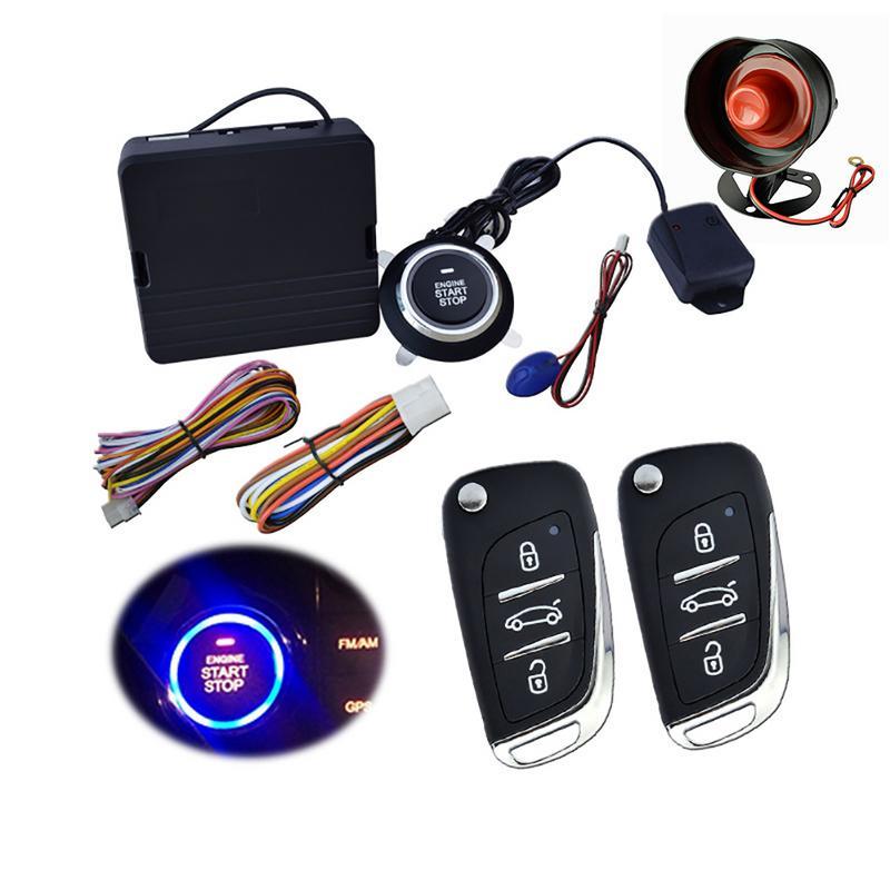 9 pièces voiture SUV sans clé entrée moteur démarrage système d'alarme bouton poussoir à distance démarreur arrêt Auto voiture alarme