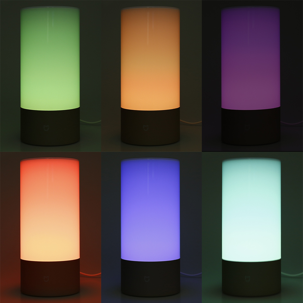 Xiaomi MJCTD01YL Bedside Lamp Night Light with OSRAM LED RGBW Touch Bluetooth Control WiFi Connection ( Update Version ) цены онлайн