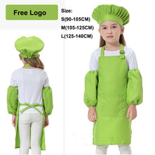 12Colors Free Logo Fancy Chef Uniform Cosplay Cook Halloween Costumes for Kids DIY Apron Baby Girl Boy Kindergarten Clothing(China)