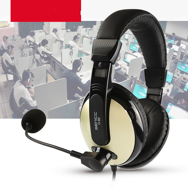 High Wearing Hearing Headset Bring Microphone Entrance Examination English Mouth Man machine Dialogue USB in Headphone Headset from Consumer Electronics