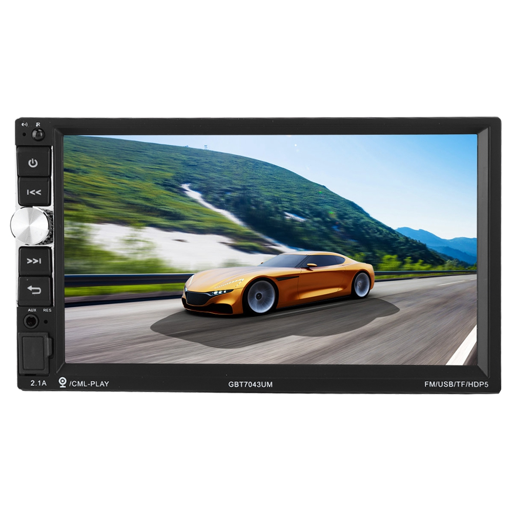 FäHig Tragbare 7 Inch Universal Mp5-7043um Auto Bluetooth Mp5 Mp3 Player Monitor Auto Multimedia Unterhaltungselektronik