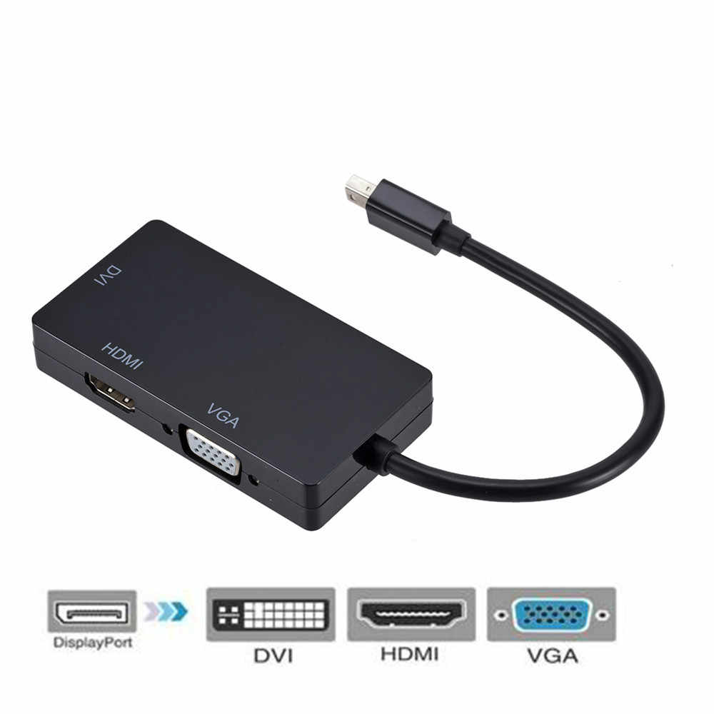 3 في 1 البسيطة Displayport ذكر موانئ دبي إلى DVI HDMI VGA الصوت شاحن أنثي عرض ميناء محول الكابل ل الكمبيوتر للكمبيوتر