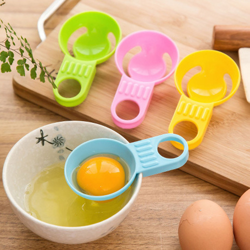 Egg White Separator Egg Yolk Separation Egg Processing Essential Kitchen Gadget Food Grade Material For Home Family Colanders & Strainers     - title=